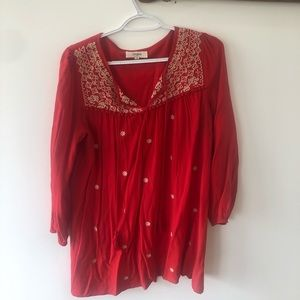 Red tunic